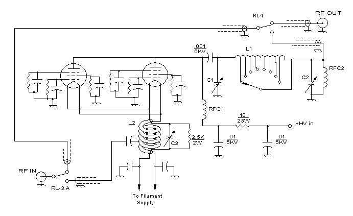 Schematic for 813 amplifier