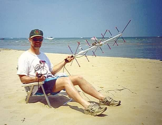 Me Working the AO-27 Satellite